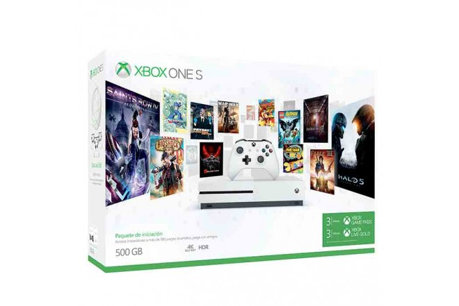 Consola Xbox One S 500GB + Control + 3 Meses de Gamepass Y Live Gold
